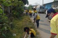 Tân hiệp phối hợp chiến sĩ xuân tình nguyện ra quân vệ sinh môi trường đường th14